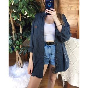 🌿 Carhartt Stone Blue Boyfriend Flannel 🌿